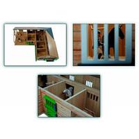 thumb-Kids Globe Paardenhoekstal met 3 Boxen en Berging 1:24-2
