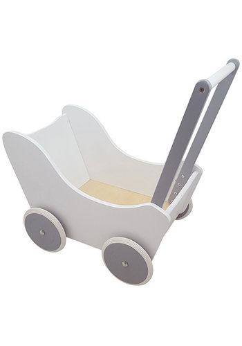 Poppenwagen Wit/Zilver