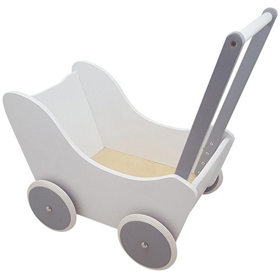 Poppenwagen Wit/Zilver-1