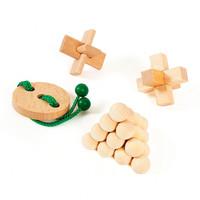 thumb-Houten Breinpuzzels Junior, 4st.-2
