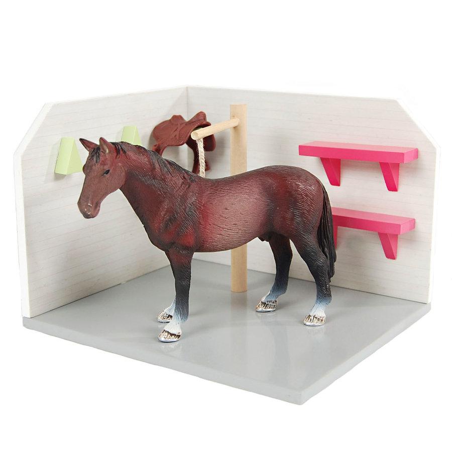Kids Globe Paarden Wasbox Hout 1:24-1