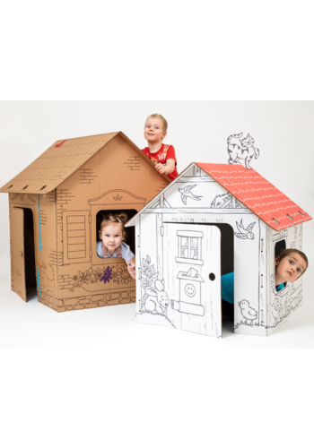 Durakids Speelhuisje Bruin - Duurzaam Karton