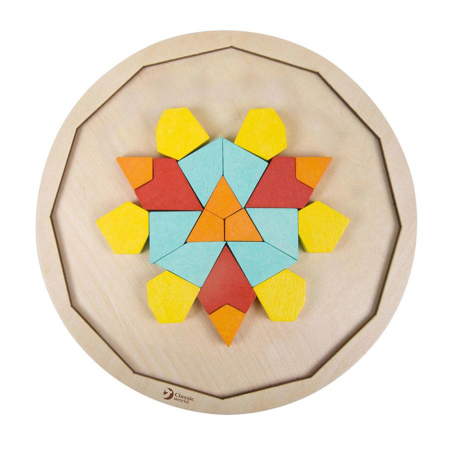 Classic World Houten Mandala Puzzel, 72st.-6
