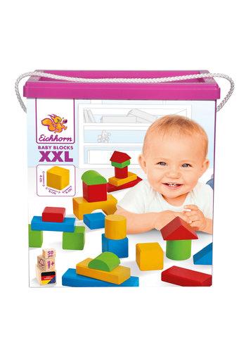 Eichhorn Baby Houten Blokken XXL, 50dlg.