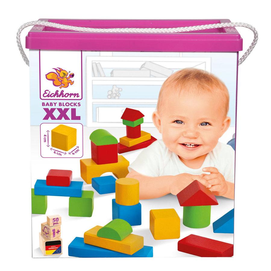 Eichhorn Baby Houten Blokken XXL, 50dlg.-1