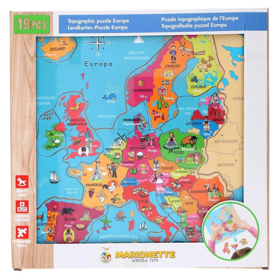 Houten Puzzel Europa, 18st.-1