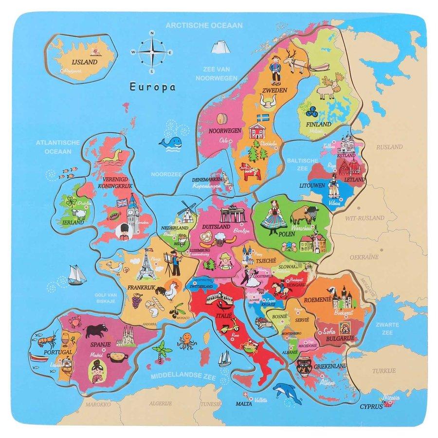 Houten Puzzel Europa, 18st.-2