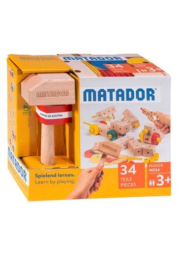 Matador Maker M034 Constructieset Hout, 34dlg.