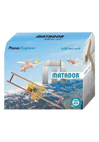 Matador Explorer Planes Constructieset Hout, 69dlg.