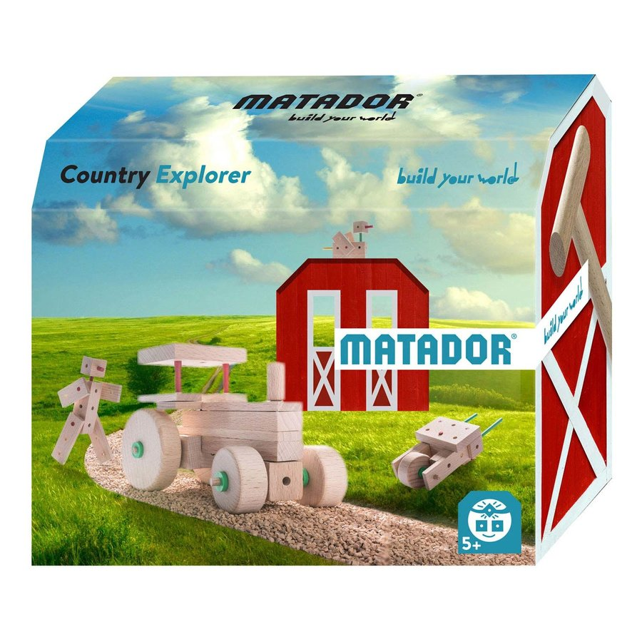 Matador Explorer Country Constructieset Hout, 47dlg.-1