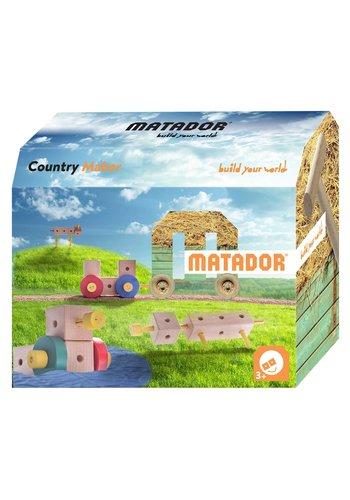 Matador Maker Country Constructieset Hout, 38dlg.