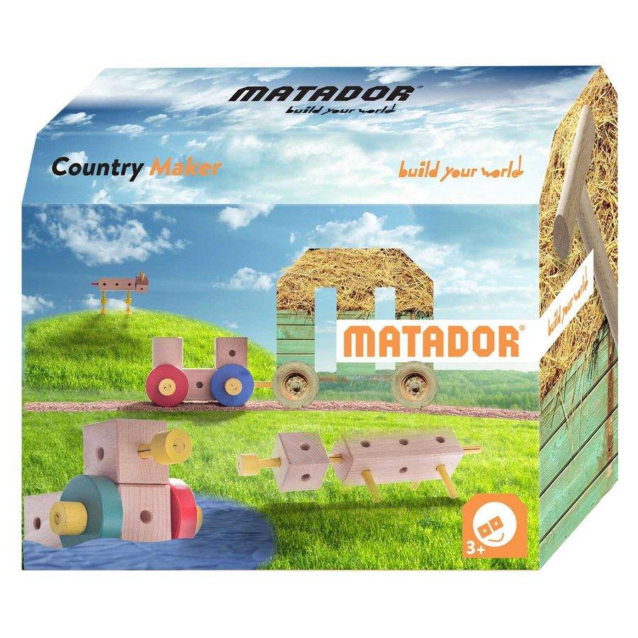 Matador Maker Country Constructieset Hout, 38dlg.-1