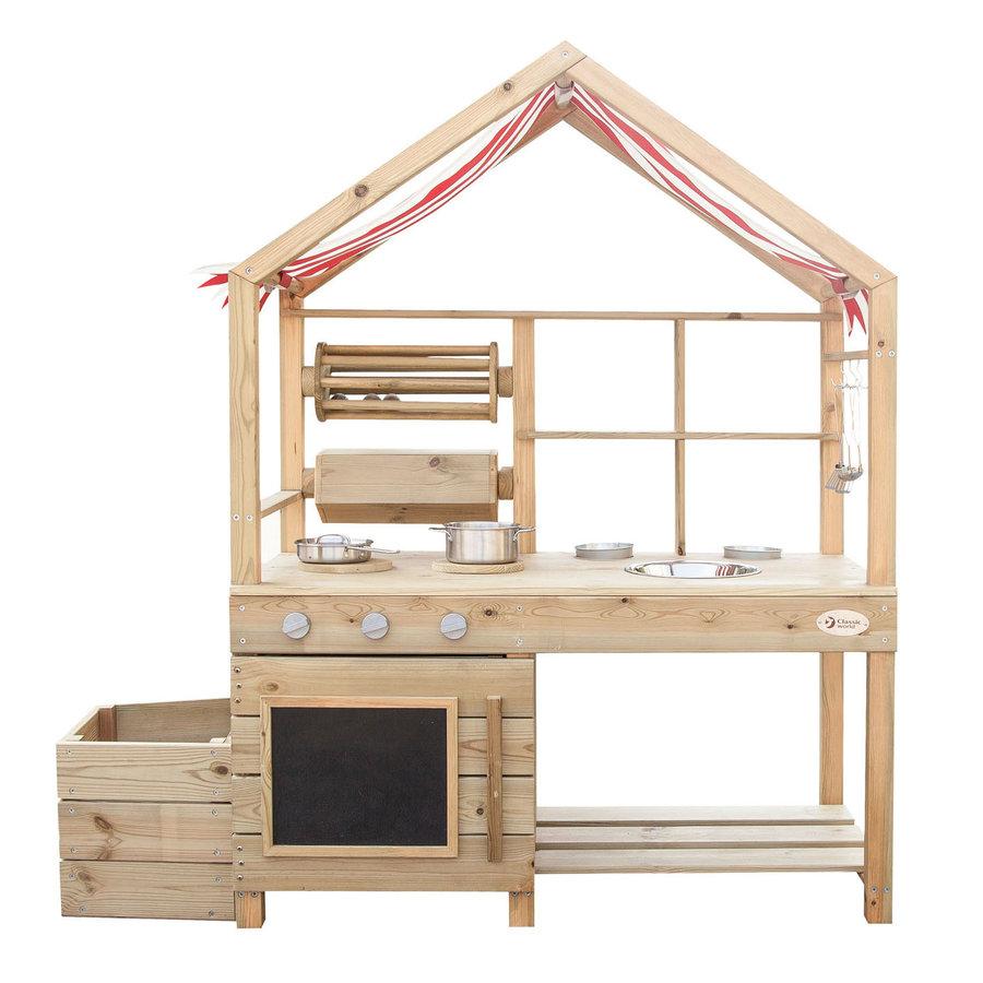 Classic World Outdoor Kinderkeuken XL Hout-1