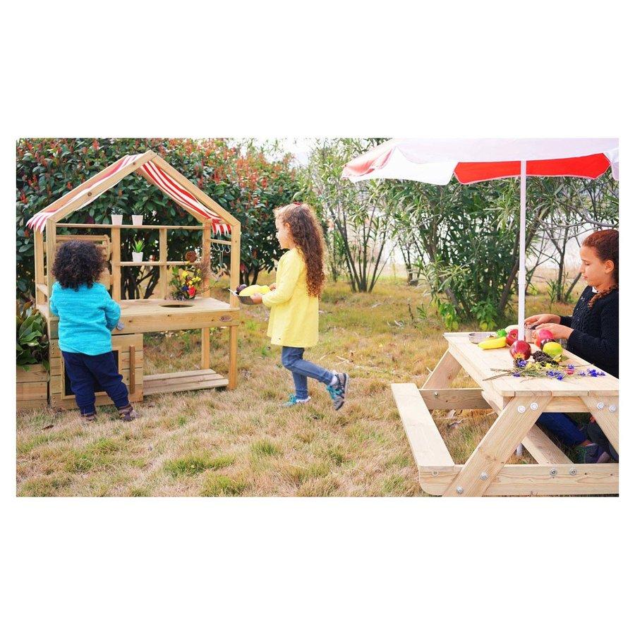 Classic World Outdoor Kinderkeuken XL Hout-2