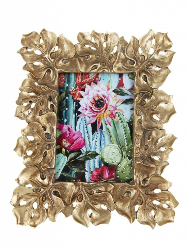 Photo Frame Gold Leaf 13 X 18 Cm Godly Store