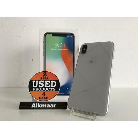Apple iPhone X 256GB zilver | In nette staat