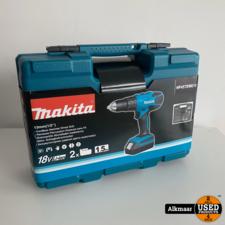 makita Makita HP457DWE10 boormachine 18v 2x 1.5Ah | NIEUW