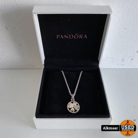 PANDORA Hearts of Love Necklace 390405CZ-70   Nieuwstaat!