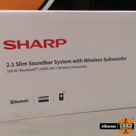 Sharp 2.1 Slim Soundbar System | Wireless | Nieuw in doos!