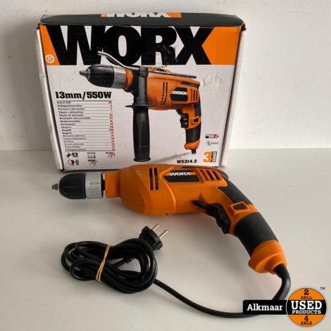 Worx klopboormachine WX 314.2 550W klopboormachine   In doos