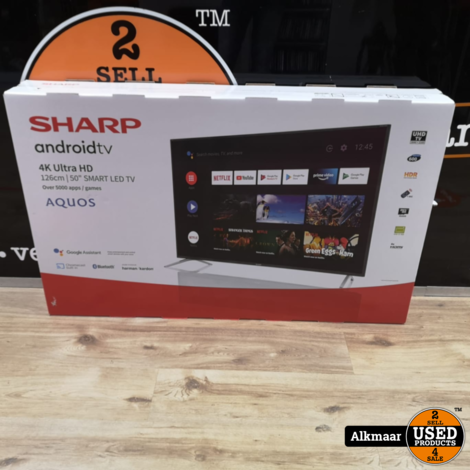 Sharp 50BL2 50 inch 4K UHD TV | NIEUW in doos!