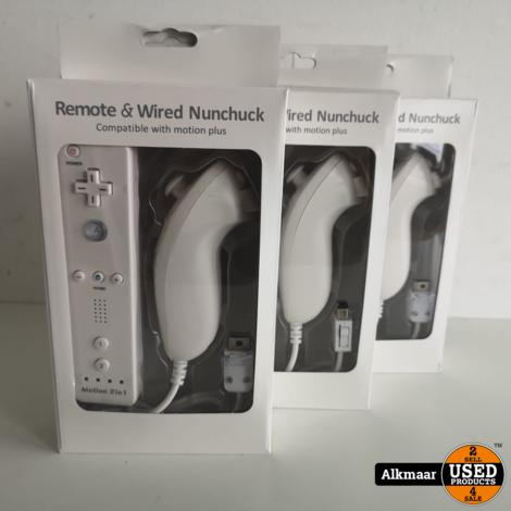 Nintendo Wii controller + Nunchuck wit voor Nintendo Wii   NIEUW!