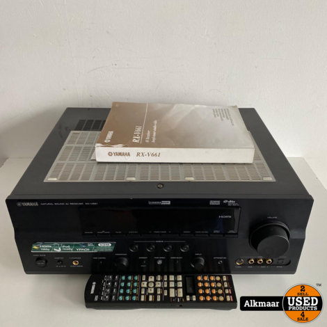 Yamaha RX-V661 Receiver + afstandsbediening | 7.1