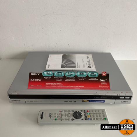 Sony RDR-HX727 DVD Recorder 160GB + afstandsbediening