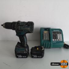 Makita Makita DDF470 Boormachine 14.4V + 2x 5ah accu + Lader