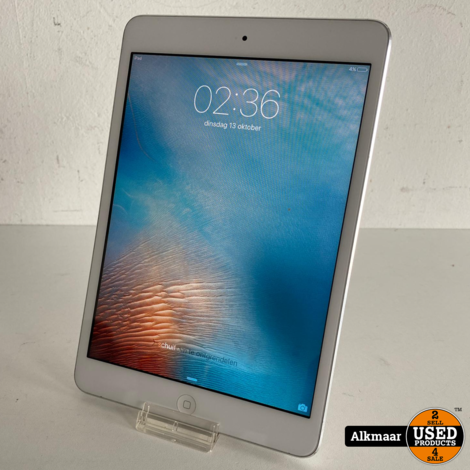 Apple iPad Mini 1 16GB Wifi zilver   Gebruikt
