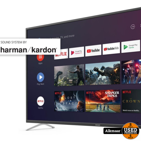 Sharp 65BL2 65inch 4K Ultra-HD Android Smart TV | 2J Garantie!