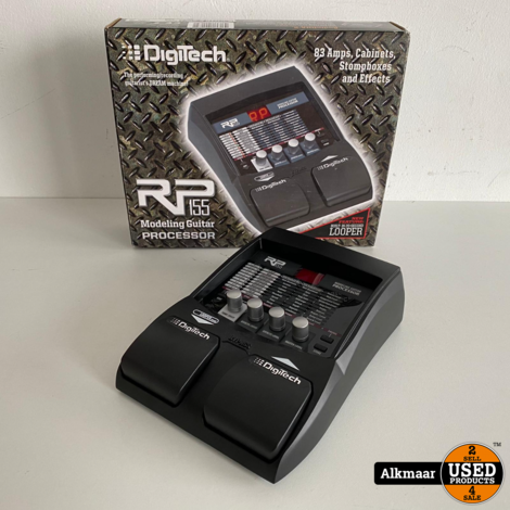Digitech RP155 Modeling guitar processor | Compleet in doos