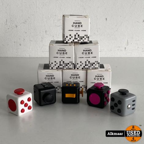 Hand Cube Fidget Toy | Wit/Rood | NIEUW