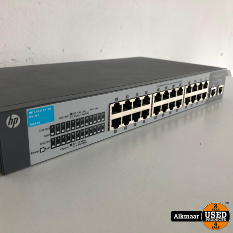 HP 1410-24-2G 24 poorts switch + voeding | Nette staat