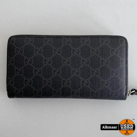 Gucci Kingsnake print GG Supreme zip around wallet   Incl doos en papieren