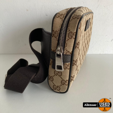 Gucci GG Canvas Body Bag 449174 + Bon