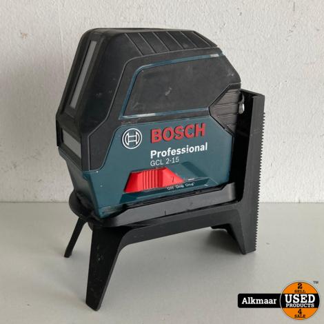 Bosch GCL 2-15 Lijn en punt laser | Kruislijnlaser | Nette staat