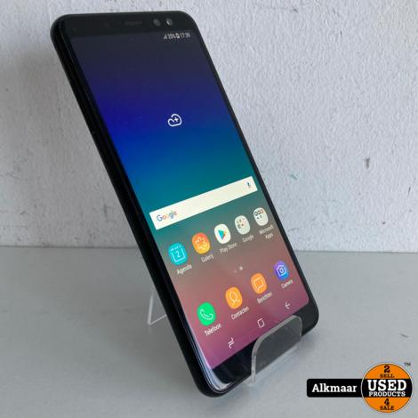 Samsung Galaxy A8 (2018) 32GB zwart   Nette staat