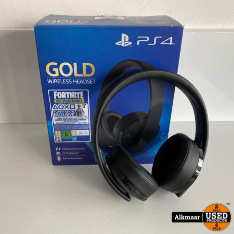 Sony PS4 GOLD 7.1 Wireless headset   Compleet in doos