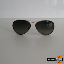 Rayban Ray Ban Aviator Full Color RB3025JM BLACK ON LEGEND GOLD