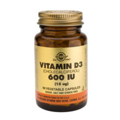Solgar Vitamin D3 15Ug/600Iu Vc 3318 (60St) VSR2360