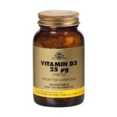 Solgar Vitamin D3 25Ug/1000Iu Sft 3340 (100St) VSR2362
