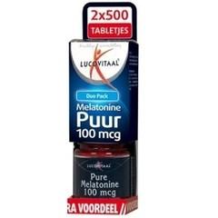 Lucovitaal Melatonine duo 0.1 mg 2 x 500 tabletten (1000 tabletten)
