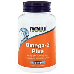 NOW Omega-3 Plus 360 mg EPA 240 mg DHA (60 softgels)