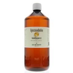 Jacob Hooy Lijnzaad olie inwendig koudgeperst (1 liter)