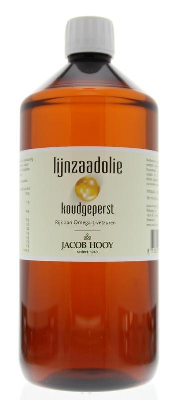 Jacob Hooy Jacob Hooy Lijnzaad olie inwendig koudgeperst (1 liter)