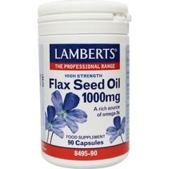 Lamberts Lijnzaadolie (flaxseed oil) 1000 mg (90 vcaps)