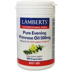 Lamberts Teunisbloemolie 500 mg (pure evening primrose oil) (180 vcaps)