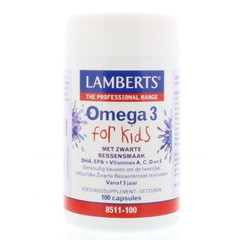Lamberts Visolie omega 3 for kids (100 capsules)