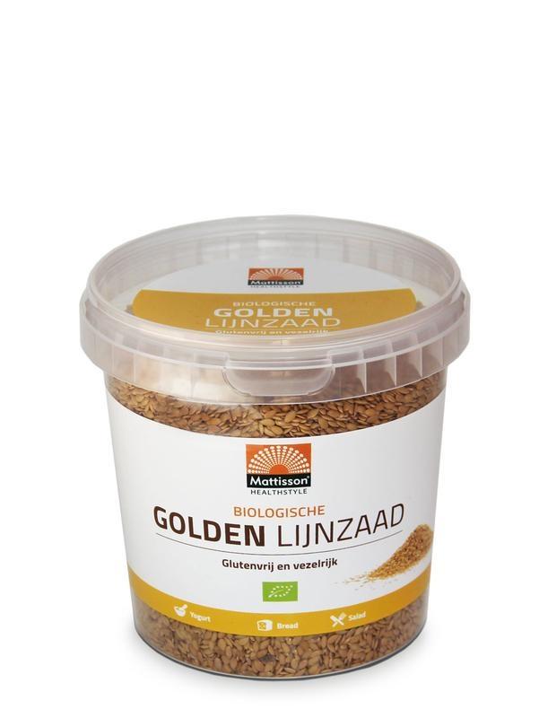 Mattisson Mattisson Biologische golden lijnzaad omega 3 (500 gram)